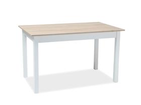 Rozkładany stół Horacy 100(140)x60 dąb sonoma/biały laminat/mdf Signal