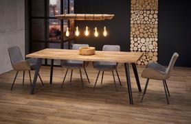 Rozkładany stół Dickson 150(210)x90 dąb/czarny mdf/stal Halmar