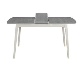 Rozkładany stół Rimini 120(155)x80 szary/biel mdf/okleina naturalna/drewno Signal