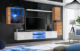 Meblościanka Switch 23 wotan - biały mat/połysk + LED