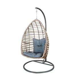 Kokon / huśtawka / fotel wiszący Piatto technorattan brązowy