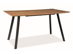 Stół Mano 140x80 dąb/czarny okleina naturalna/metal Signal