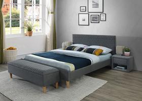 Łóżko azurro 160x200 szary/dąb tkanina signal
