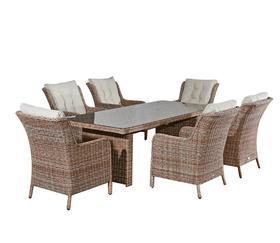 Meble ogrodowe Goccia stół + 6 krzeseł technorattan