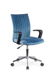 Fotel młodzieżowy Doral niebieski tkanina velvet Halmar