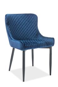 Krzesło Colin B granat velvet/czarny metal signal