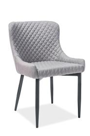 Krzesło Colin B szara tkanina/czarny metal signal