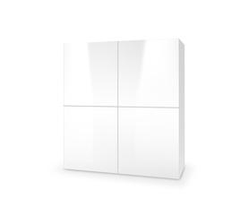 Komoda km-100 stojąca biała z systemu livo halmar