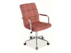 Fotel obrotowy Q-022 antyczny róż tkanina velvet Signal
