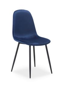 Krzesło fox velvet granat/czerń metal signal