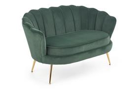 Sofa Amorinito XL ciemny zielony/złoty metal halmar