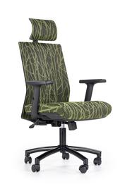 Fotel gabinetowy Tropic czarny/zielony tkanina membranowa/siatka Halmar