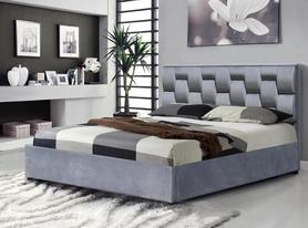 Łóżko sypialniane Annabel 160x200 popiel tkanina Halmar