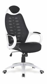 Fotel obrotowy striker 2 czarno-biała tkanina/siatka/eko halmar