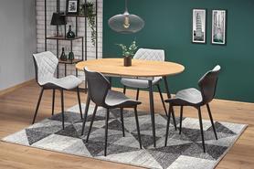 Rozkładany stół Colorado 120(160)x80 dąb złoty/czarny mdf/stal Halmar