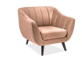 Fotel 1 os. Elite beżowa tkanina velvet signal
