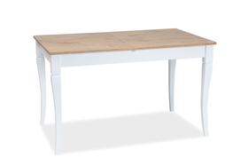 Rozkładany stół Ludwik 125(170)x75 dąb lancelot/biel płyta laminowana/drewno Signal