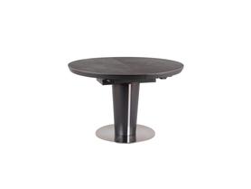 Stół Orbit Ceramic 120(160)x120 szary efekt marmuru/antracyt mdf/ceramika/stal Signal