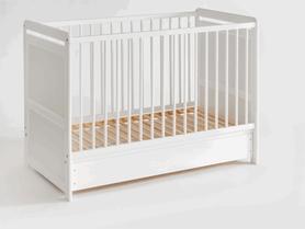 Łóżeczko dziecięce sosnowe Tymek Plus 60 x 120 z materacem i z szufladą