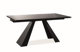 Rozkładany stół Salvadore 160(240)x90 czarny szkło/metal Signal