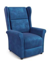 Fotel wypoczynkowy Agustin granat tkanina halmar