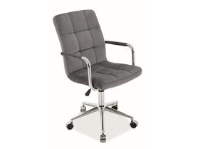 Fotel obrotowy Q-022 szary tkanina velvet Signal