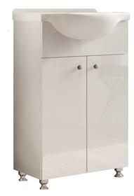 Szafka łazienkowa z umywalką Mila II DUM biały połysk