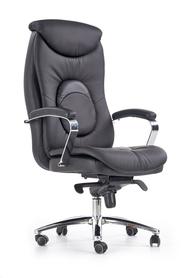 Fotel gabinetowy Quad czarna eco skóra Halmar