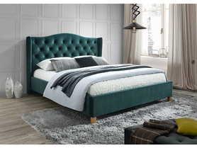 Łóżko sypialniane Aspen zielony velvet 140x200 signal
