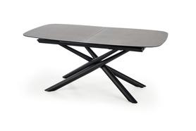 Rozkładany stół Capello 180(240)x95 ciemny popiel/czarny szkło/stal Halmar