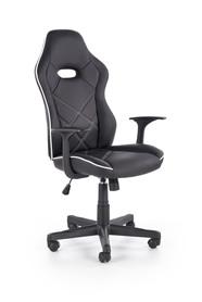 Fotel gabinetowy Rambler czarny/biały eco skóra Halmar