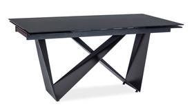 Rozkładany stół Cavalli I 160(240)x90 czarny szkło/metal Signal