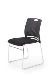 Fotel konferencyjny Cali czarny polipropylen/tkanina/chrom Halmar