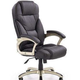 Fotel obrotowy Desmond czarna ecoskóra Halmar
