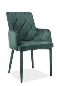Krzesło Ricardo zielony velvet/metal signal