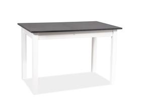 Rozkładany stół Horacy 100(140)x60 antracyt/biały laminat/mdf Signal