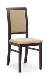 Krzesło sylwek 1 c. orzech tkanina/drewno halmar