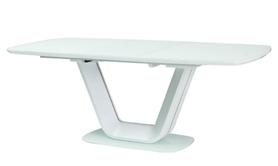Rozkładany stół Armani 140(200)x90 biały mat mdf/szkło Signal