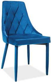Krzesło Trix velvet granat/granat metal signal