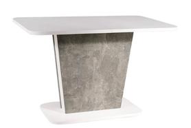 Rozkładany stół Calipso 110(145)x68 biały mat/efekt betonu Signal