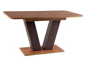 Rozkładany stół Platon 136(176)x80 dąb wotan/brąz laminat Signal