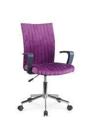 Fotel młodzieżowy Doral fiolet tkanina velvet Halmar