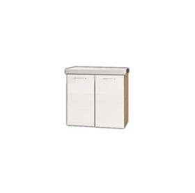 Szafka łazienkowa Dublin z umywalką 64 cm dąb artisan/biały połysk