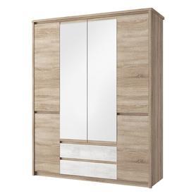 Szafa z lustrem 6d2s Somma dąb sonoma/biały mat