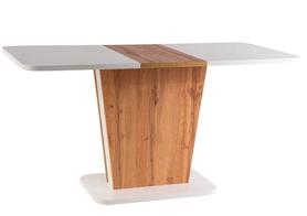 Rozkładany stół Calipso 110(145)x68 biały mat/dąb wotan Signal