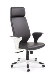 Fotel gabinetowy Lonatti czarny/biały eco skóra/polipropylen Halmar