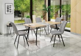 Rozkładany stół Albon 120(160)x80 dąb sonoma/popielaty mdf/stal Halmar