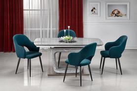 Rozkładany stół Artemon 160(220)x90 popiel/marmur mdf/stal Halmar