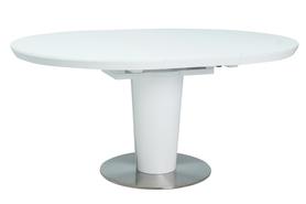 Rozkładany stół Orbit 120(160)x120 biel mdf/szkło/stal Signal