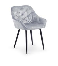Krzesło k-418 popiel tkanina velvet/stal Halmar